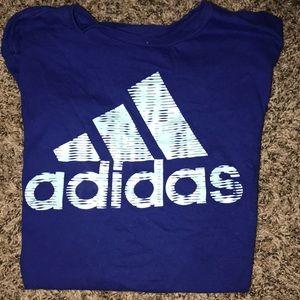 Royal blue Adidas t shirt
